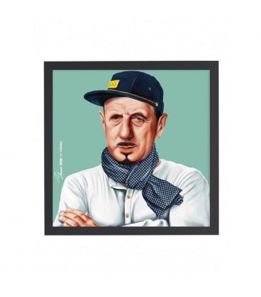 Tableau Charles de Gaulle par Amit Shimoni