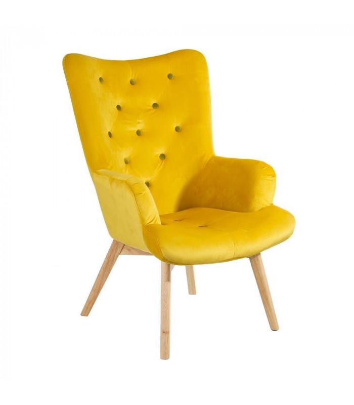 fauteuil nordica jaune h gen. Black Bedroom Furniture Sets. Home Design Ideas