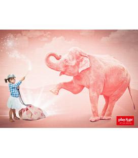 Pink Éléphant - Sac de Rangement de Jouets