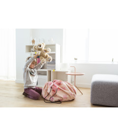 Pink Elephant - Sac de Rangement de Jouets