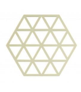 Dessous De Plat Triangles Denim en Silicone