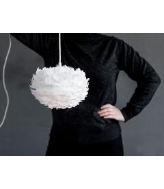 Suspension Eos Blanc Mini + Cordon Noir + Ampoule