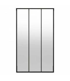 Miroir Eliott 2 Bandes Metal Naturel Metal & Verre 80 X 120 Cm