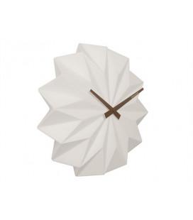 Horloge Karlsson Origami Blanc Mat