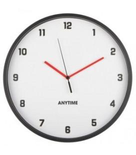 Horloge Slim Noire Quartz Extra Plate