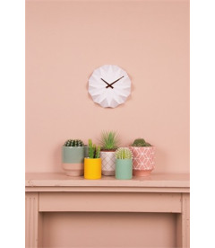 Horloge Origami Blanc Mat