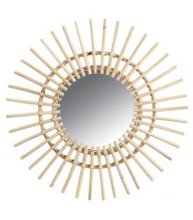 Miroir Soleil En Rotin Naturel