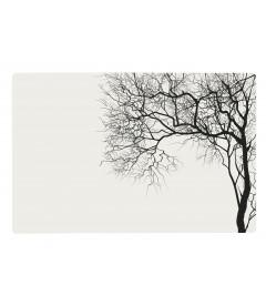 Set De Table Blanc Motif Arbre Noir