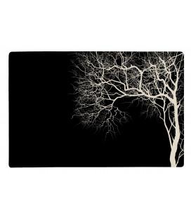Set De Table Noir Motif Arbre Blanc