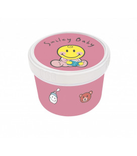 Smiley Baby - Boite Ronde 8-5cm - Baby Rose