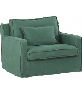 Fauteuil Large Tinos Lin Large Turquoise