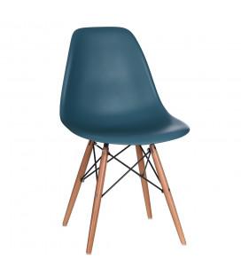 Chaise Vintage Bleu Canard