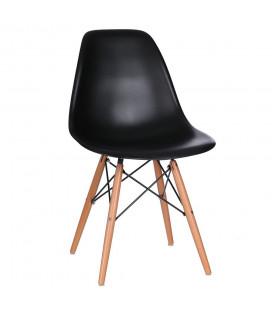 Chaise Vintage Noir Briillant