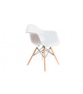 Chaise Vintage Accoudoir Blanc