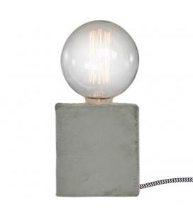 Lampe Beton Carré avec Ampoule