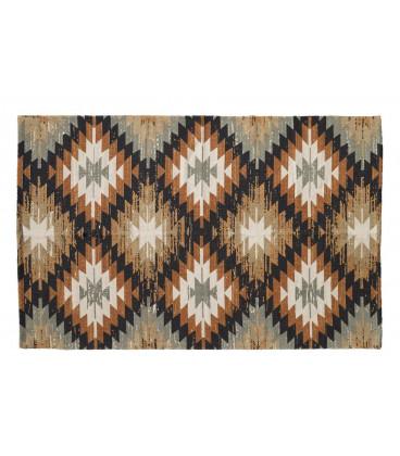 Tapis de Salon Multicolore 100% Coton L 180cm W 120cm