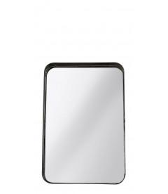 Miroir Metal Noir H 33cm L 22cm