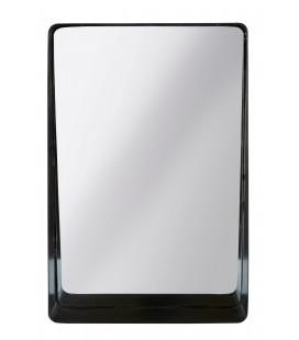 Miroir Métal Noir H 45cm L 30cm