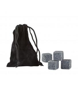 Whisky Stones 9 Pcs Granite Gris H 2cm L 2cm W 2cm Gift Box