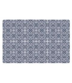 Set De Table Motif 6 Carreaux de Ciment Bleu