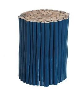 Table d'Appoint / Tabouret Teck Bleu