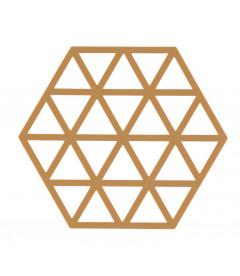 Dessous De Plat Triangles Caramel en Silicone