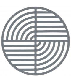 Dessous De Plat Circle Cool Gris en Silicone