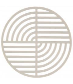 Dessous De Plat Circle Warm Gris en Silicone