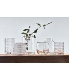 Vase - Avec Motif - Glass - Clear - H 15,0cm - L 12,5cm - W 12,5cm - Pcs.