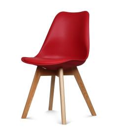 Chaise Copenhague Rouge + Coussin