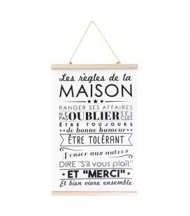 """Affiche Murale """"Les règles de la Maison"""""""