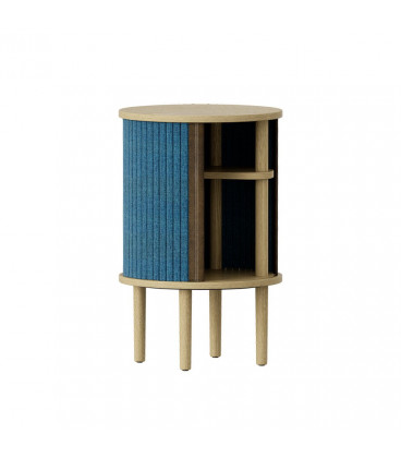 Chevet Audacious USB-hub Bleu Pétrole Chêne Clair