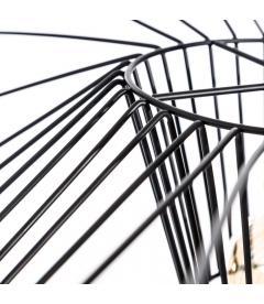 Suspension Filaire Libellule XXL Métal Noir 120cm