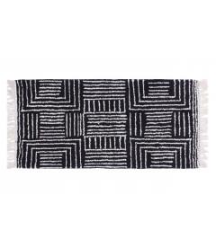 Tapis de Chambre / Couloir Malia Noir 70/140 cm