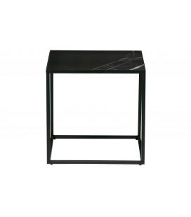 Table d'Appoint Carré Side Noir