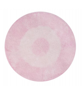 Tapis Tie-Dye Rose Ø150 cm Lavable en Machine