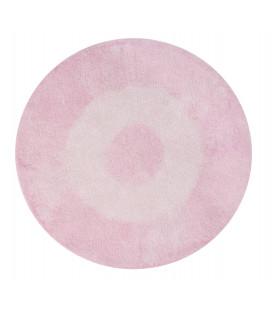 Tapis Tie-Dye Rose Ø150 cm Lavable en Machine