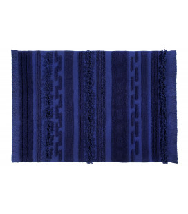 Tapis Coton Air Alaska Bleu 140/200 cm Lavable en Machine