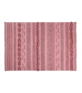 Tapis Coton Air Canyon Rose L 170/240 cm Lavable en Machine