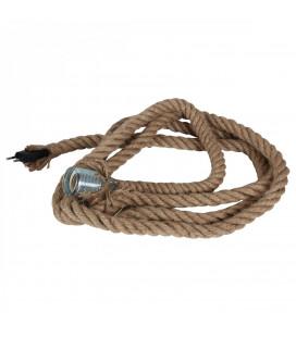 Lampe Corde + Ampoule Globe Edison Filament H17cm