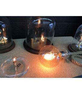 Lampe Corde + Ampoule Globe XL Rétro