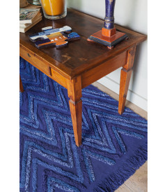 Tapis Coton Earth Alaska Blue 170/240 cm Lavable en Machine