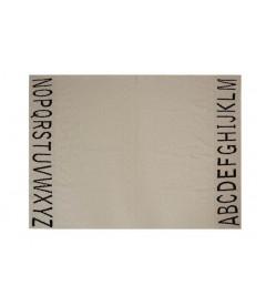 Couverture Rond ABC Naturel et Noir 120 / 100 cm Lavable en Machine