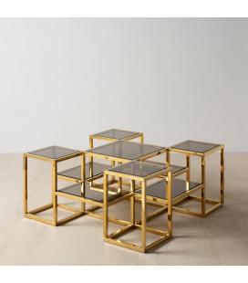 Table Basse Level Doré
