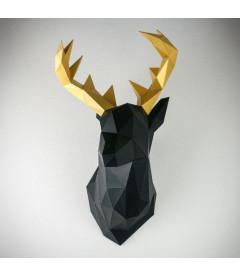 Cerf L Noir 4-5h H58xl35xp31cm
