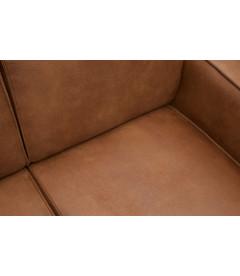 Canapé d'Angle Gauche Statement Cognac Cuir Recyclé