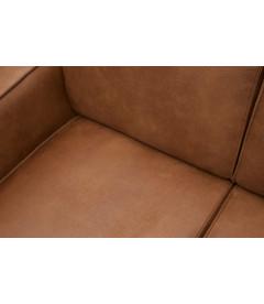 Canapé d'Angle Droite Statement Cognac Cuir Recyclé
