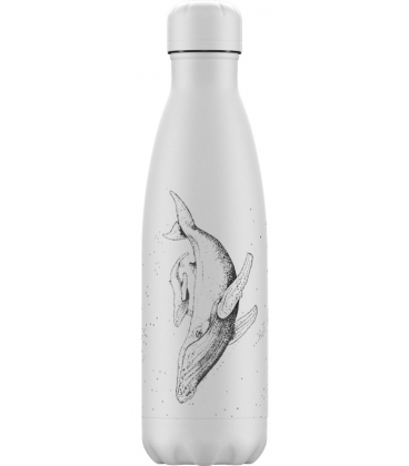 "Bouteille Isotherme 500ml Acier ""Sea Life Whale"" Chilly's"