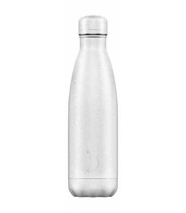 "Bouteille Isotherme 500ml Acier ""Glitter White"" Chilly's"