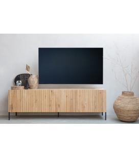 Meuble TV Gravure 180 cm Chêne Naturel
